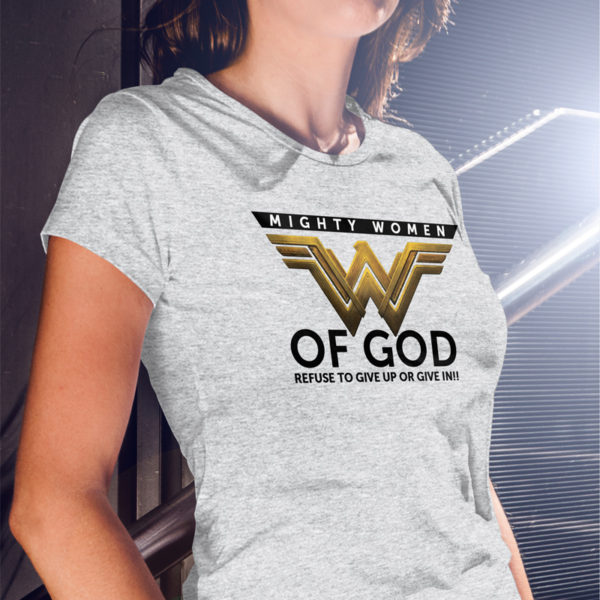 MIGHTY WOMEN FRONT T-SHIRT MOCK UP